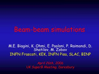 Beam-beam simulations