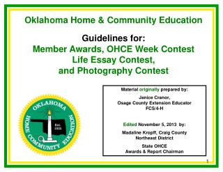 Oklahoma Home & Community Education