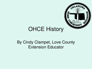 OHCE History