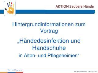 Hintergrundinformationen zum Vortrag