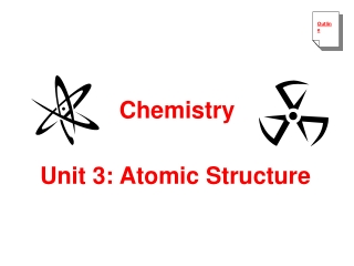 Unit 3 - Atomic Structure