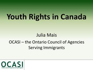 Youth Rights in Canada