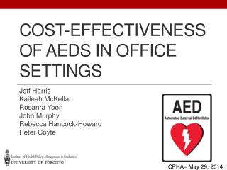 Cost -Effectiveness of  AEDs in Office Settings