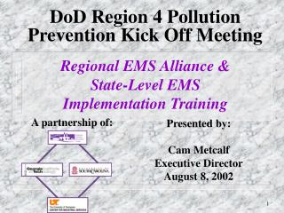 DoD Region 4 Pollution Prevention Kick Off Meeting