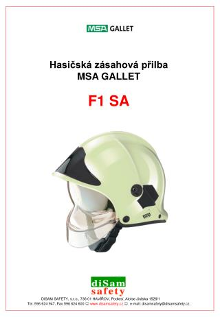 Tel. 596 624 947, Fax 596 624 600  ☺ disamsafety.cz ☺   e-mail: disamsafety@disamsafety.cz