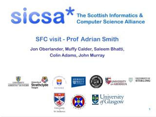 SFC visit - Prof Adrian Smith