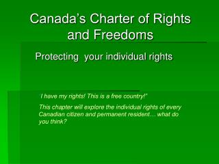Protecting  your individual rights