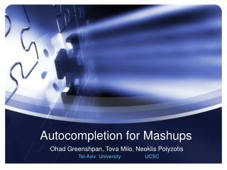 Autocompletion for Mashups