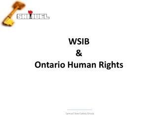 WSIB  &  Ontario Human Rights