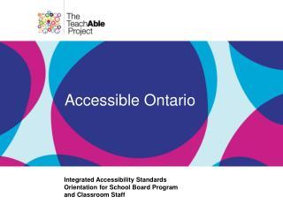Accessible Ontario