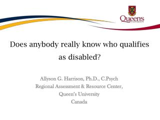 Does anybody really know who qualifies as disabled?