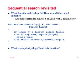 Sequential search revisited