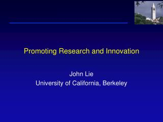 Promoting Research and Innovation