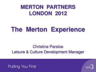 MERTON  PARTNERS LONDON  2012
