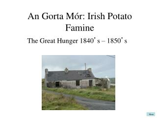 An Gorta Mór:  Irish Potato Famine