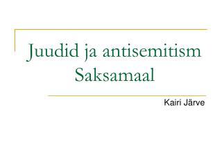 Juudid ja antisemitism Saksamaal