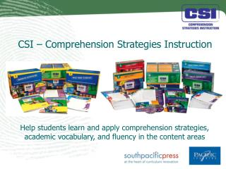 CSI – Comprehension Strategies Instruction