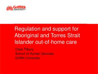 Regulation and support for Aboriginal and Torres Strait Islander out-of-home care
