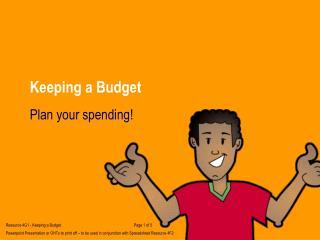 Keeping a Budget