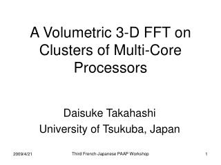 A Volumetric 3-D FFT on Clusters of Multi-Core Processors