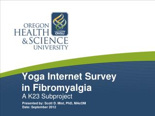 Yoga Internet Survey  in Fibromyalgia