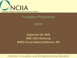 Foundation Perspectives NCIIA