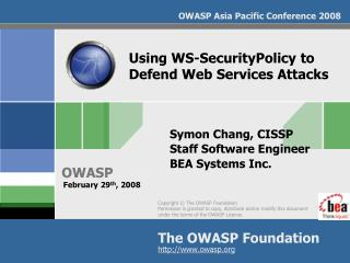 Using WS-SecurityPolicy to Defend Web Services Attacks
