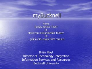 myBucknell
