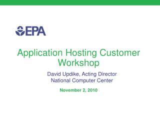 Application Hosting Customer Workshop