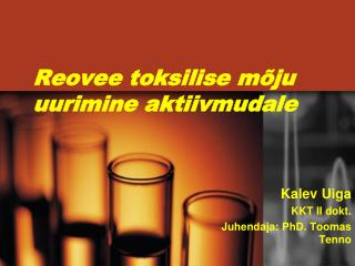 Reovee toksilise mõju uurimine aktiivmudale