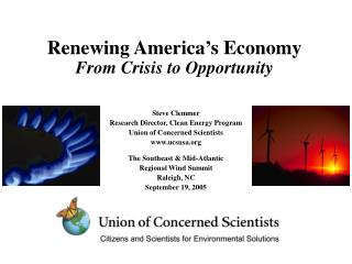Renewing America's Economy From Crisis to Opportunity