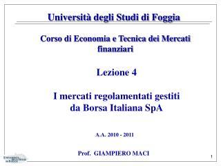 Universit� degli Studi di Foggia