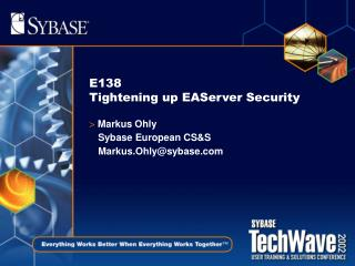 E138 Tightening up EAServer Security