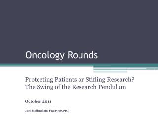 Oncology Rounds