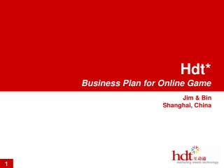 Hdt* Business Plan for Online Game