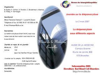 Journée  sur la drépanocytose Le 2 mars 2007 La drépanocytose  sous différents aspects