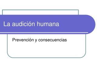 La audición humana