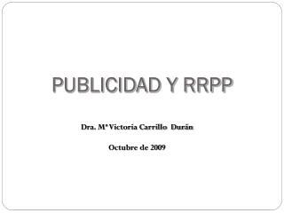 PUBLICIDAD Y RRPP
