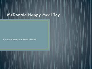 McDonald Happy Meal Toy
