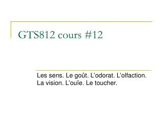 GTS812 cours #12