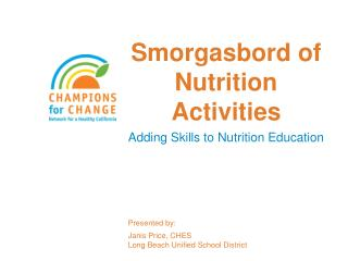 Smorgasbord of Nutrition Activities