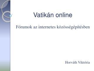 Vatikán online