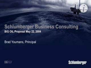 Schlumberger Business Consulting  BIG OIL Proposal May 22, 2004