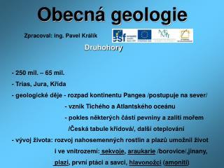 Obecn� geologie