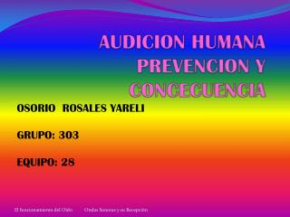AUDICION HUMANA PREVENCION Y CONCECUENCIA