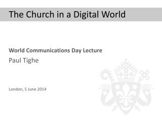The Church in a Digital World