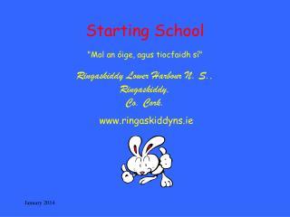 """Starting School """"Mol an óige, agus tiocfaidh sí"""" Ringaskiddy Lower Harbour N. S., Ringaskiddy,"""