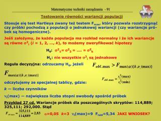 Matematyczne techniki zarządzania  - 91