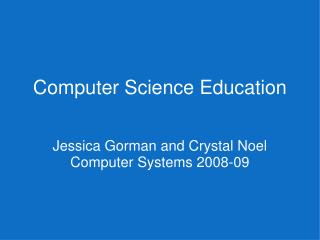 Computer Science Education