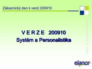 Zákaznický den k verzi 200910